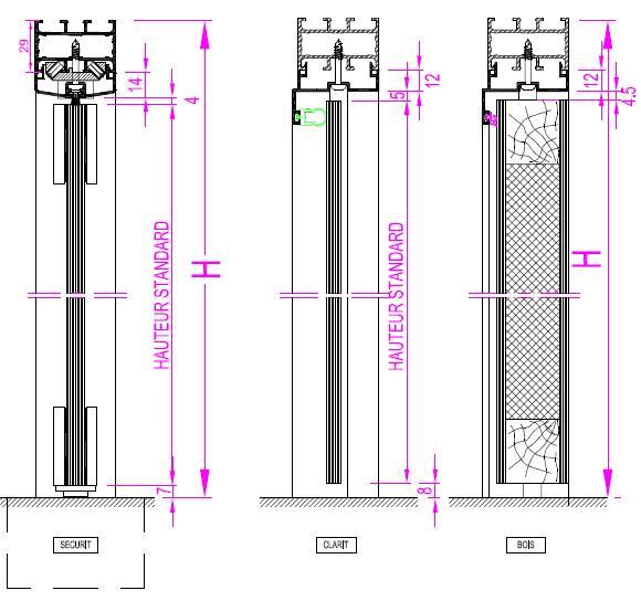 Porte clarit bois securit for Encadrement de porte bois
